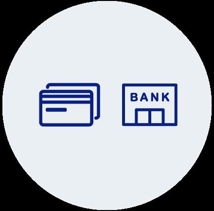 クレジットカードと銀行振込のイメージ